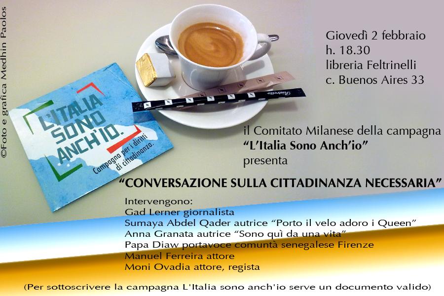 """2 feb Milano incontro """"Conversazioni sulla cittadinanza necessaria"""""""