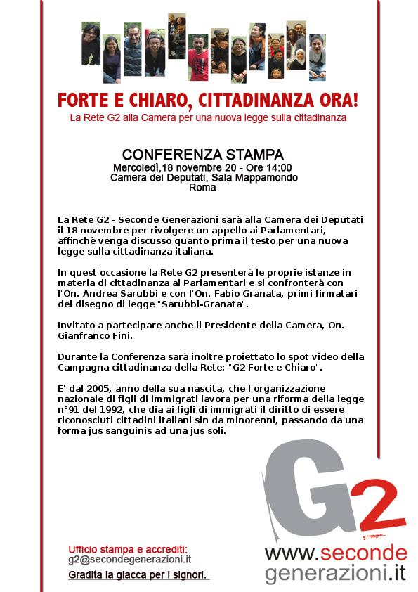 G2 Conferenza stampa Camera dei Deputati